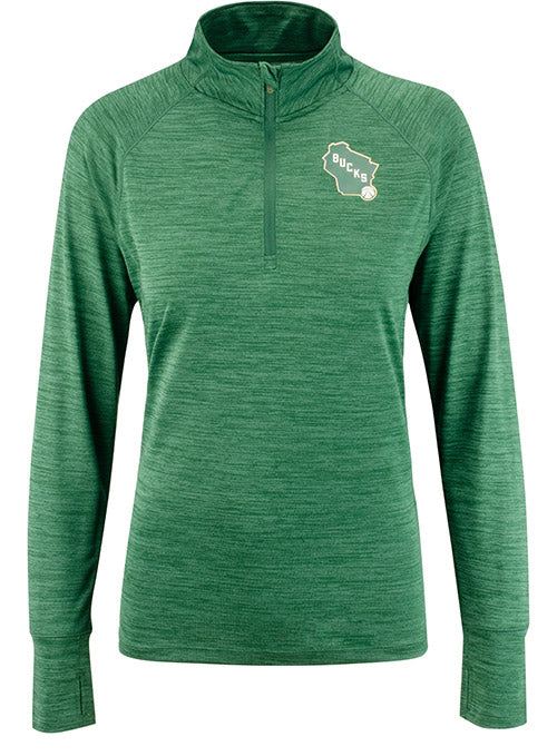 Womens '47 Impact 1/4 Zip Milwaukee Bucks Pullover