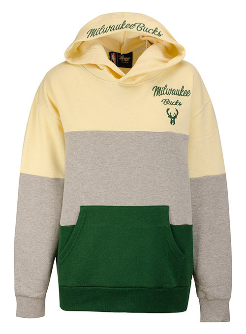 Women's G3 Gridiron Icon Milwaukee Bucks Hooded Sweatshirt