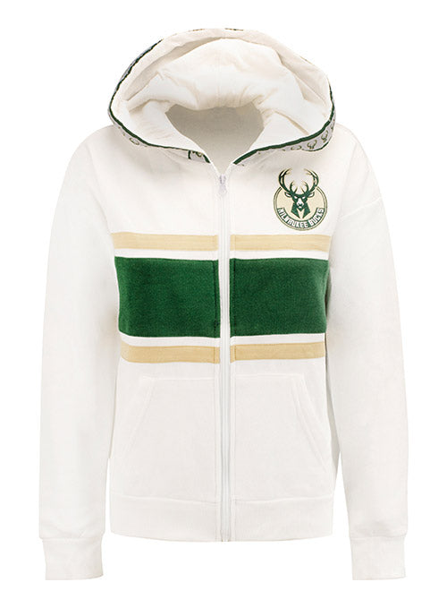 Women's Unk Center Line Full Zip Milwaukee Bucks Hooded Sweatshirt