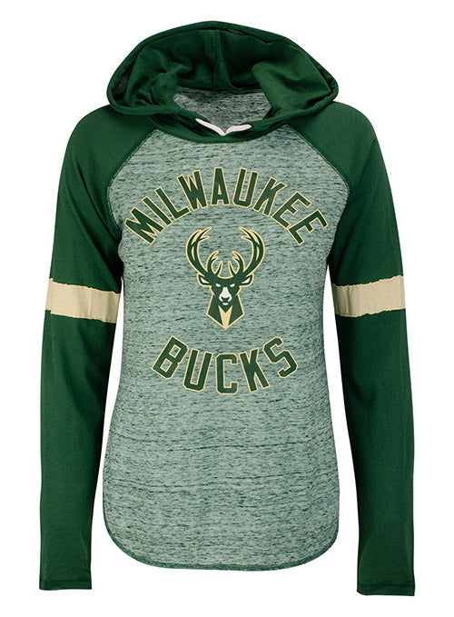 Women's G3 Opening Day Icon Milwaukee Bucks Hooded Sweatshirt