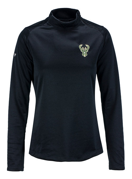 Women's Levelwear Eve Milwaukee Bucks 1/4 Zip Pullover