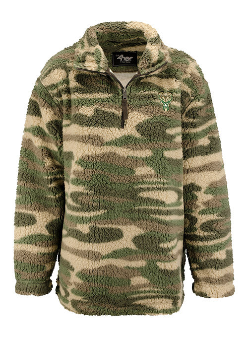 Women's G3 Camo Sherpa Milwaukee Bucks Pullover