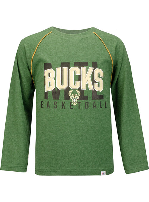 Youth Profile Hitting the Mark Milwaukee Bucks Long Sleeve T-Shirt