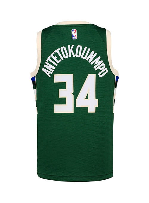Youth Nike Giannis Antetokounmpo Icon Milwaukee Bucks Swingman Jersey