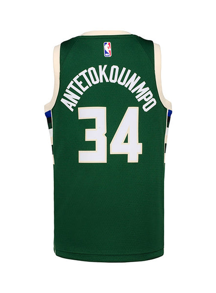 buy popular c6ef8 74849 Youth Nike Giannis Antetokounmpo Icon Milwaukee Bucks Swingman Jersey |  Bucks Pro Shop