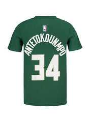 Youth Nike Giannis Antetokounmpo Icon Milwaukee Bucks T-Shirt