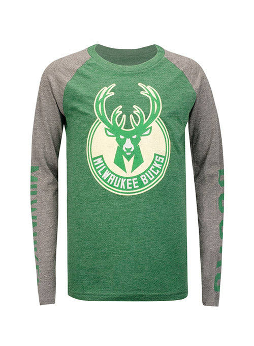 Youth Outerstuff Fadeaway Milwaukee Bucks Long Sleeve T-Shirt