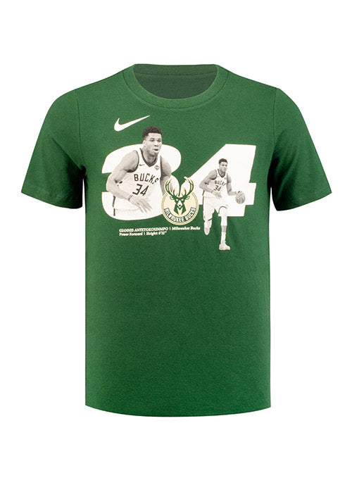 Youth Nike Giannis Antetokounmpo GPX Milwaukee Bucks T-Shirt