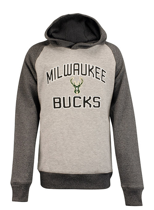 Youth Outerstuff Raglan Foundation Milwaukee Bucks Hooded Sweatshirt