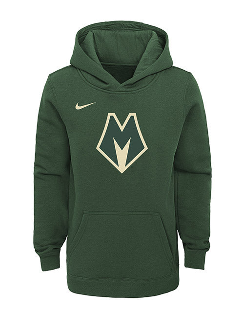 Youth Nike City Edition Cream City Milwaukee Bucks Hooded Sweatshirt