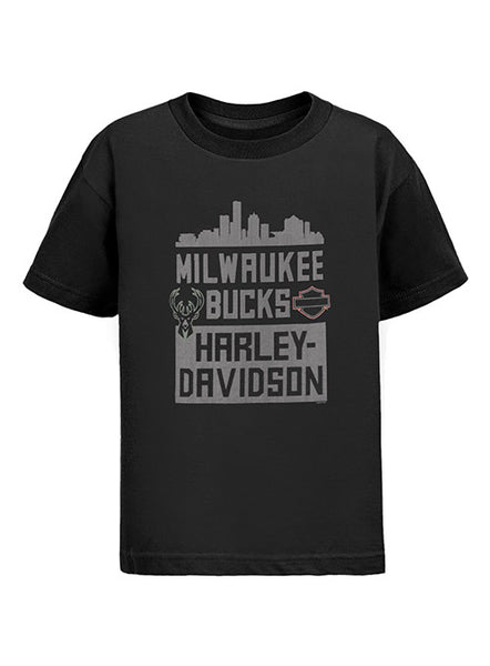 Youth Fanatics Milwaukee Bucks/Harley Davidson T-Shirt