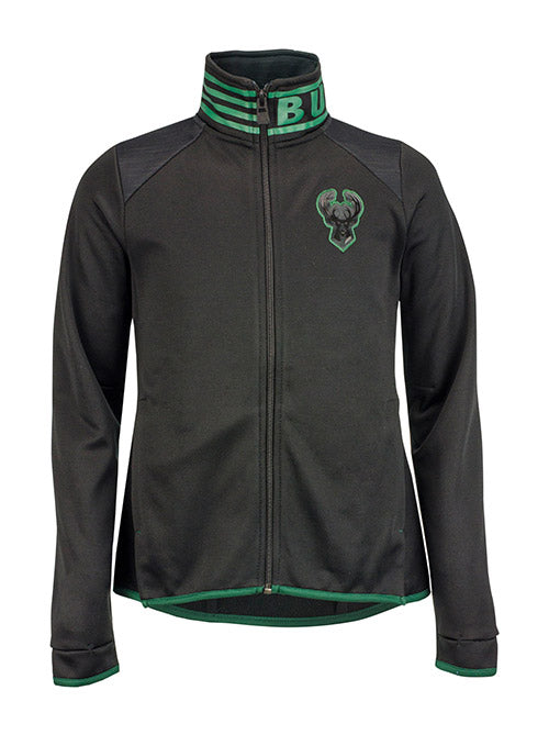 Girls Outerstuff Full-Zip Milwaukee Bucks Aviator Jacket