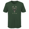 Youth Nike Essential Logo 20 Milwaukee Bucks T-Shirt