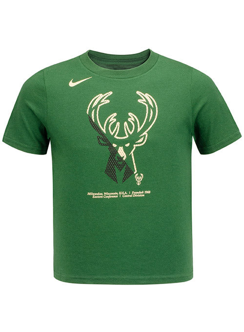Juvi Nike Split Logo Milwaukee Bucks T-Shirt