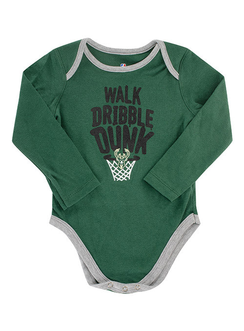 Infant Outerstuff Long Sleeve 2-Piece Trophy Milwaukee Bucks Creeper Set