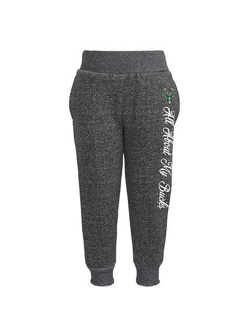 Infant Girl's Outerstuff Slam Dunk Crewneck Sweatshirt and Sweatpants Milwaukee Bucks 2-Piece Set