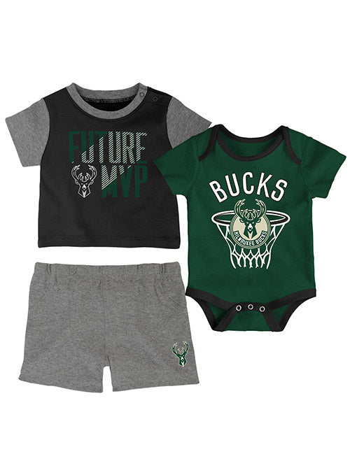 Infant Outerstuff Putting Up Numbers Milwaukee Bucks Newborn Set