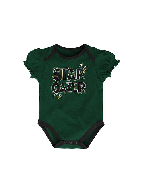 Infant Outerstuff Beating Strong Milwaukee Bucks Creeper Set