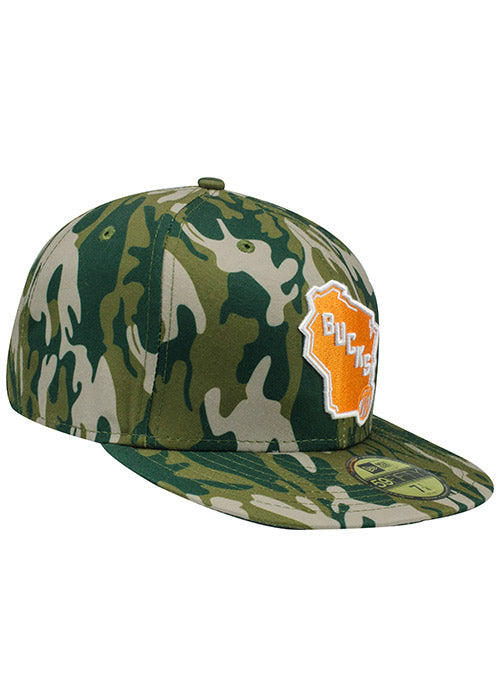 New Era Camo Fitted Cap