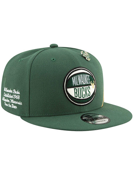 new style 62898 ab05c Youth New Era 2019 Draft Milwaukee Bucks Snapback Cap