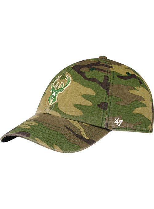 '47 Camo Icon Clean Up Milwaukee Bucks Adjustable Cap