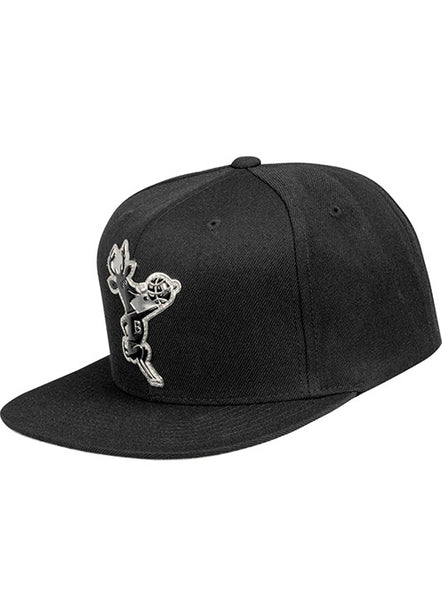 Mitchell & Ness Hardwood Classic Silver and Black Milwaukee Bucks Snapback Cap