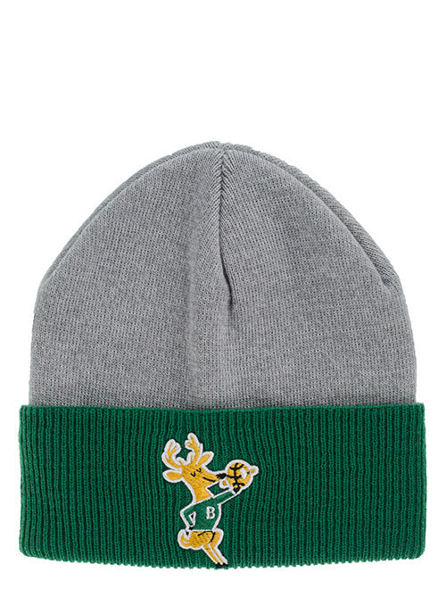 Mitchell & Ness Hardwood Classics Heather Block Milwaukee Bucks Knit Hat