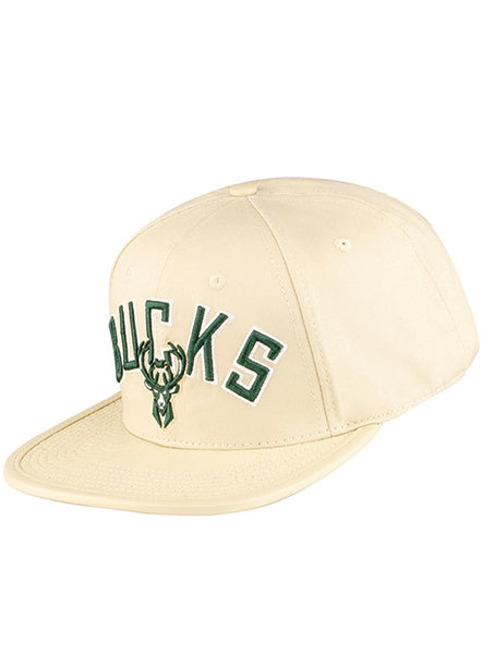 Pro Standard Gator Cream Milwaukee Bucks Snapback Cap