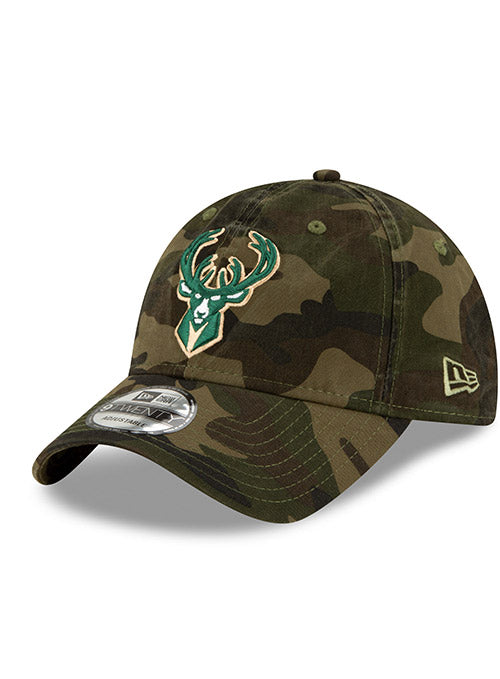 New Era Twill Camo Icon Milwaukee Bucks Adjustable Cap