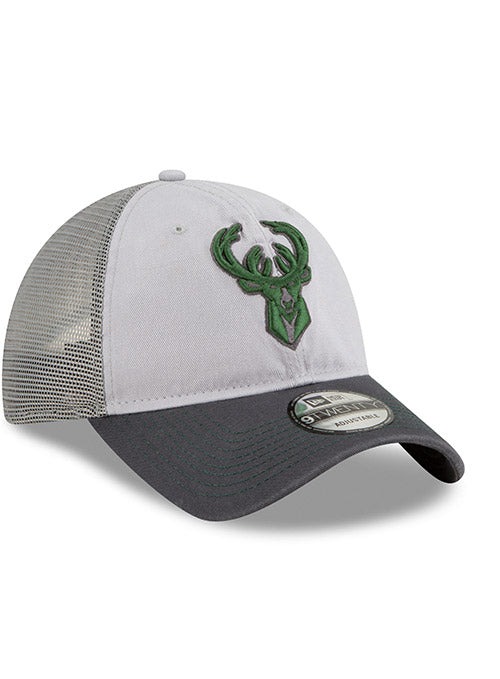 New Era Grayed Pop Icon Milwaukee Bucks Adjustable Cap