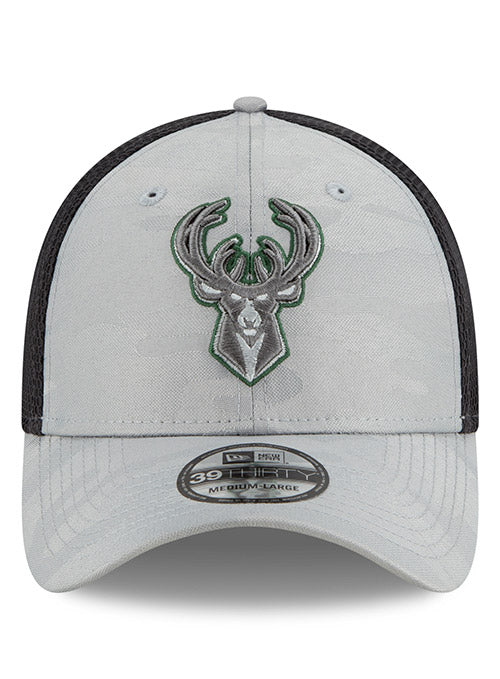 New Era Camo Gray Neo Icon Milwaukee Bucks Flex Fit Cap