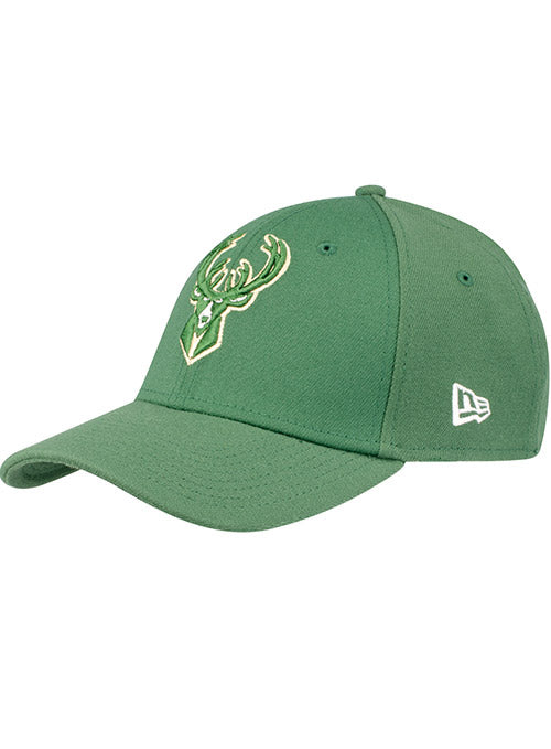New Era Green Icon Milwaukee Bucks Flex Fit Cap