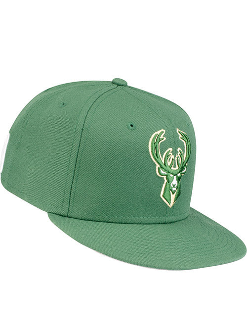 New Era Green Icon Milwaukee Bucks Fitted Cap