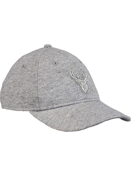 Women's New Era Sparkle Icon Heathered Gray Milwaukee Bucks Adjustable Cap