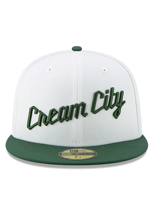 New Era City Edition Cream City Milwaukee Bucks White Fitted Cap