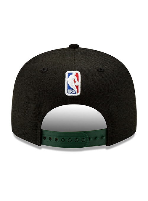 New Era Back Half Icon Black Milwaukee Bucks Snapback Cap
