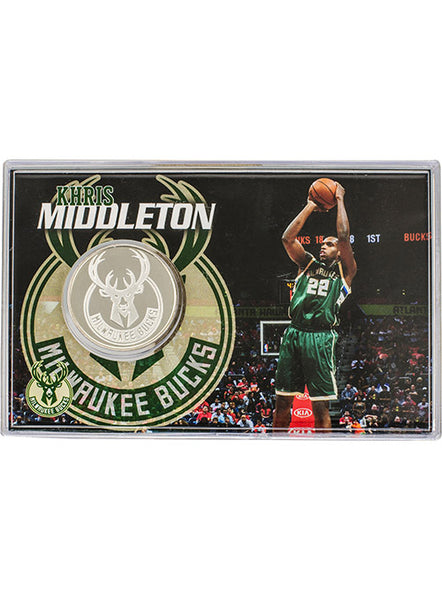 Highland Mint Khris Middleton Coin Card Milwaukee Bucks Collectible