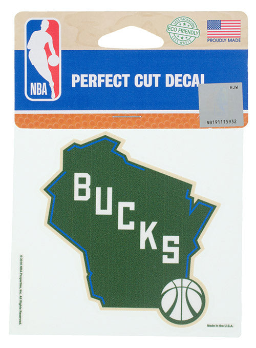 Wincraft State Logo Perfect Cut Milwaukee Bucks Decal