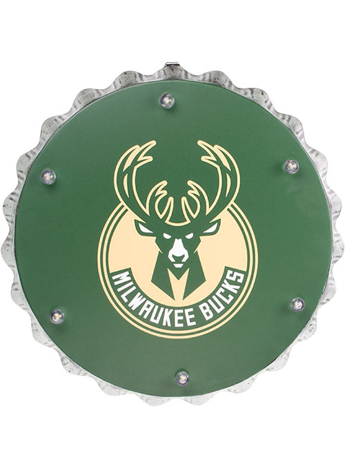 Forever Collectibles Bottle Cap Milwaukee Bucks Light Up Sign