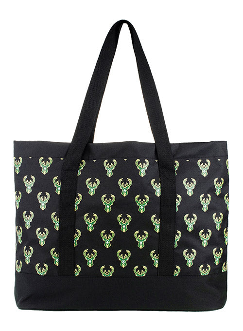 FOCO Repeat Mural Icon Milwaukee Bucks Tote Bag