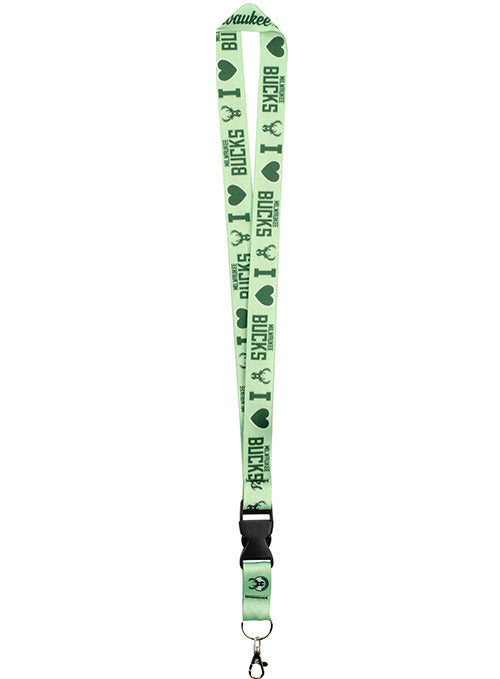 Wincraft Mint Heart Milwaukee Bucks Lanyard