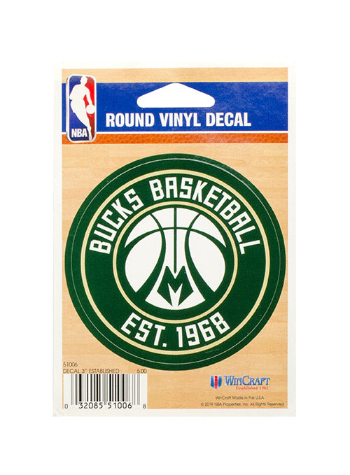 Wincraft Established Milwaukee Bucks Decal