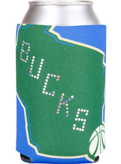 Wincraft State Bling Milwaukee Bucks Koozie