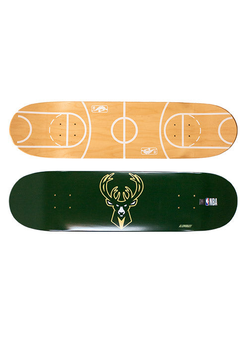 Aluminati Wood Icon Milwaukee Bucks Skateboard Deck