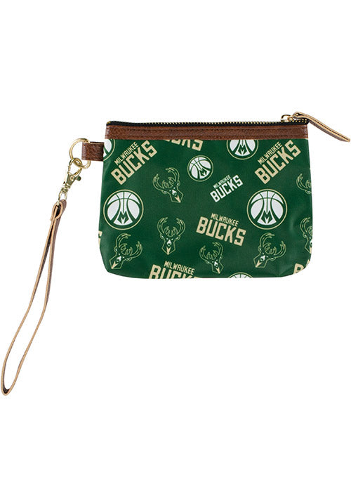 FOCO All Logos Milwaukee Bucks Wristlet
