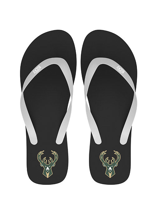 FOCO Icon Milwaukee Bucks Flip Flop Sandals