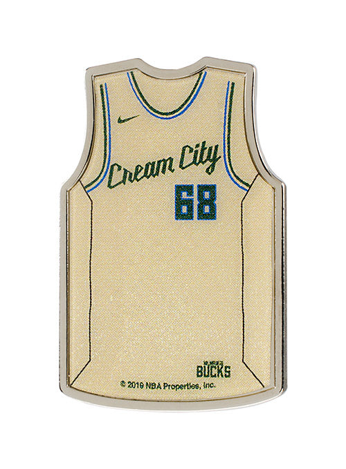 Wincraft City Edition Cream City Jersey Milwaukee Bucks Pin