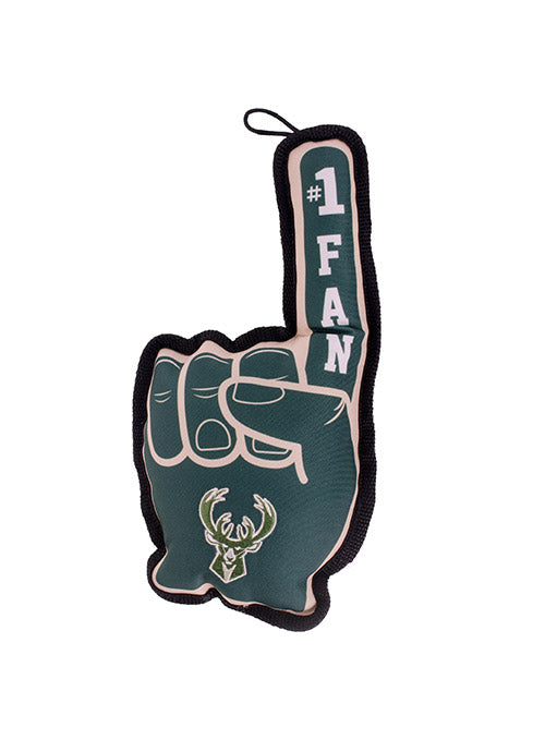 Pets First Foam Finger Squeaking Milwaukee Bucks Pet Toy