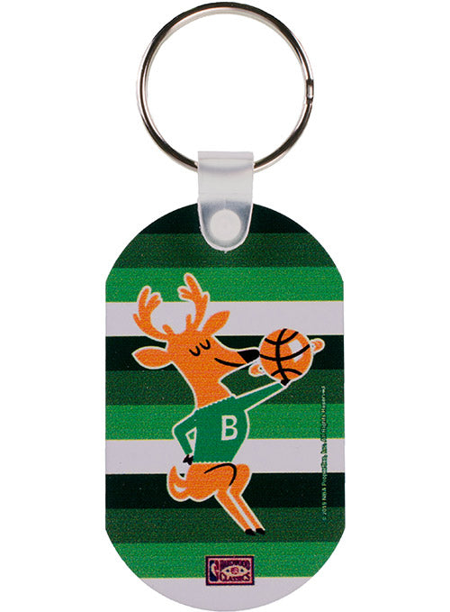 Wincraft Hardwood Classics Irish Rainbow Bango Metal Milwaukee Bucks Key Ring