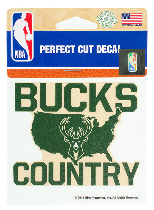 Wincraft Bucks Country Milwaukee Bucks Decal